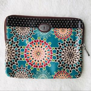 Fossil Double Zippered I-pad case